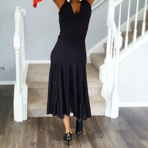 Newport News short sleeve Black dress - small